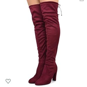 Shoes - Red sexy high heel boots